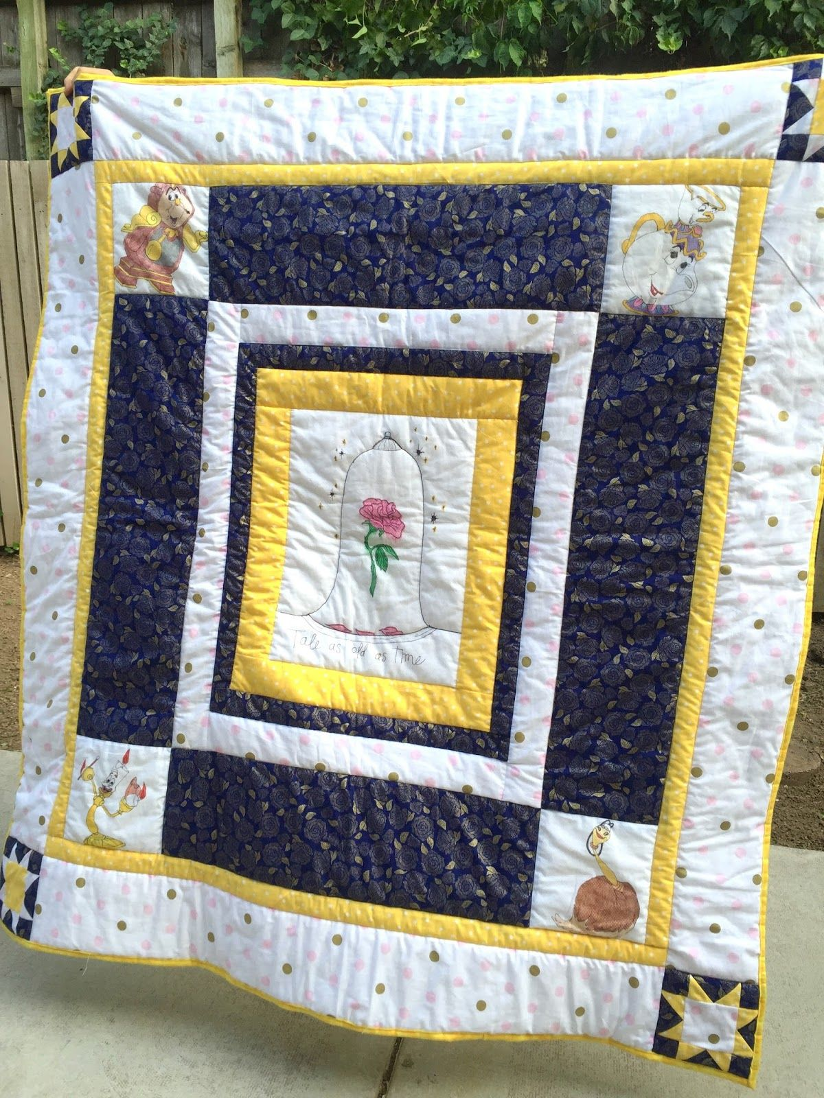 Beauty And The Beast Quilt Really Simple With Some Fun