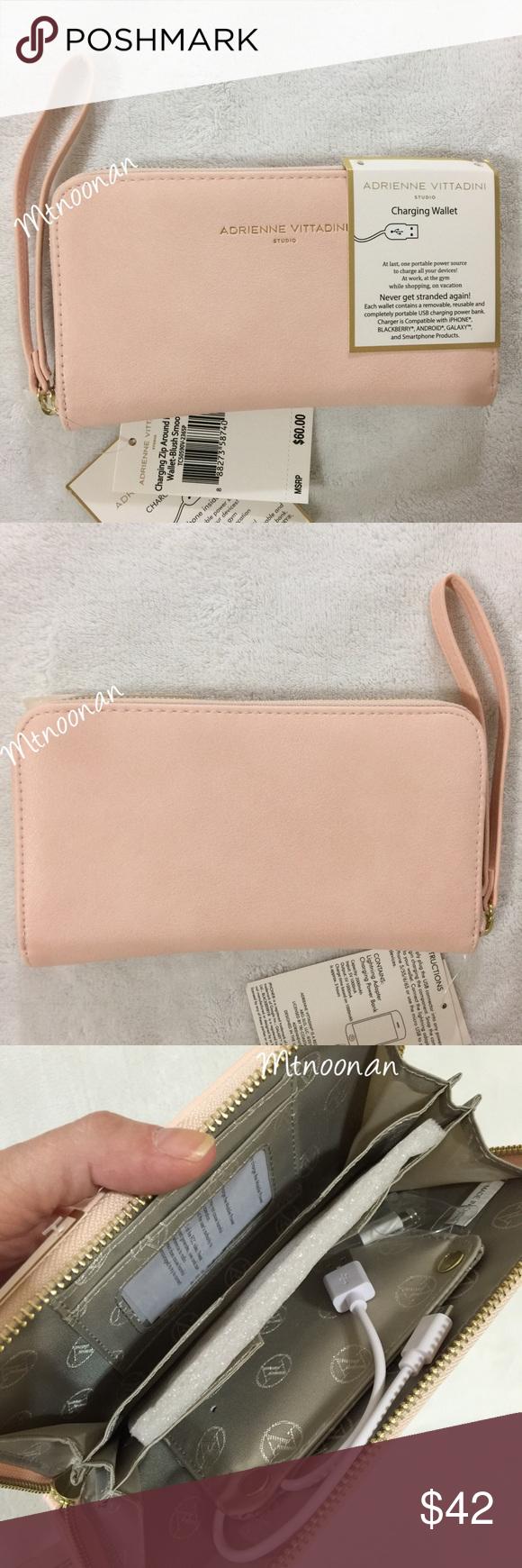 f7057d53292a72 Selling this Adrienne Vittadini Charging Zip Phone Wallet in my Poshmark  closet! My username is: mtnoonan. #shopmycloset #poshmark #fashion  #shopping #style ...