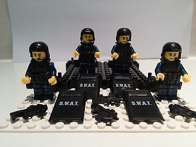 SWAT-TEAM-MINIFIGS-FIT-WITH-LEGO-SWAT-POLICE-RIOT-SQUAD-SHIELDS ...