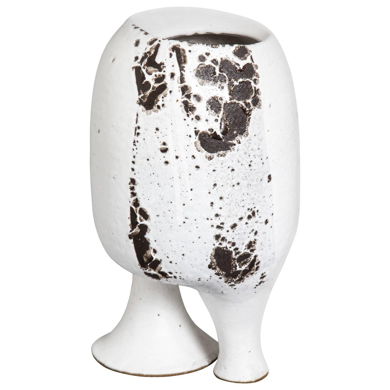 MidCentury Ceramic TwoLegged Vessel by Earl Hooks See