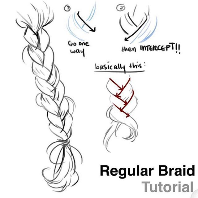 How To Draw A Braid Drawing Tutorial Drawing Tips Manga Drawing