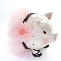 Perfectly Princess Giant Piggy Bank | Baby | Mud Pie