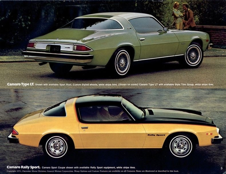SS 1975 Chevrolet Camaro Dealer Sales Brochure Z28