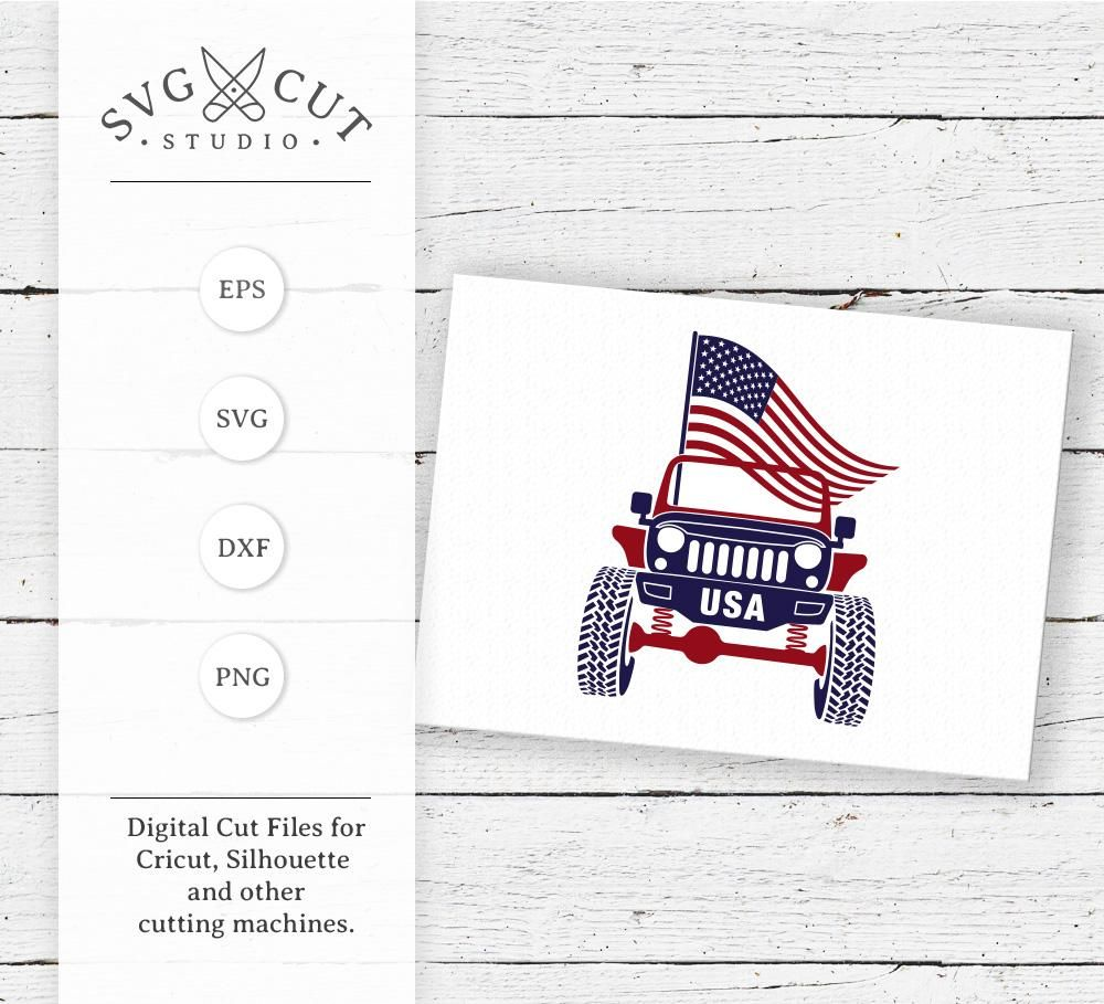 4th of July Jeep SVG Files 4th of july, Monogram frame