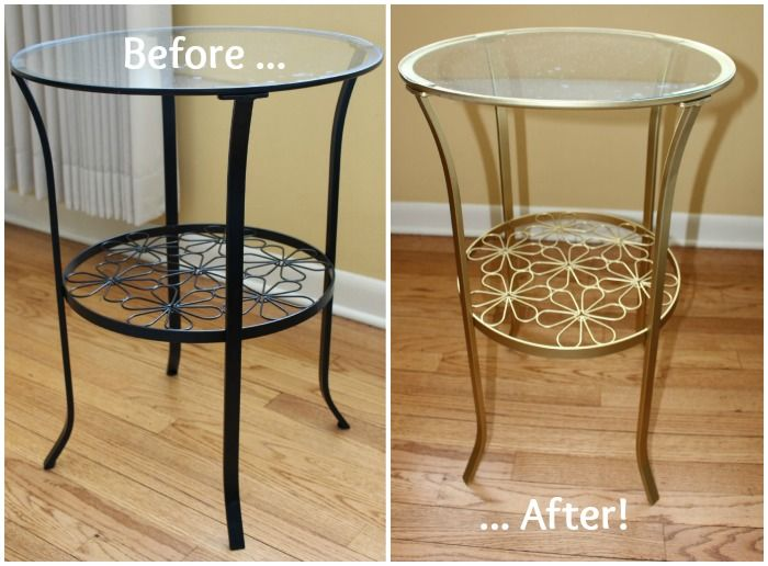 Diy Ikea Hack Brass Accent Table Furniture Sprays And Search