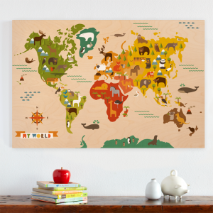 My world by petit collage jumbo wood panel to explore pinterest petit collage jumbo wood panel my world petit collage jumbo wood panel my world earth map print picture poster wall gumiabroncs Image collections