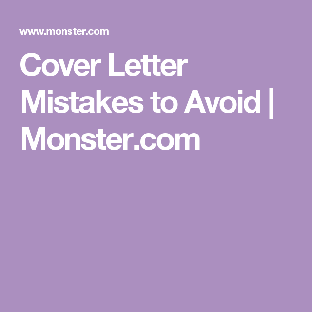 Here Are Seven Common Cover Letter Blunders To Avoid  Career Advice
