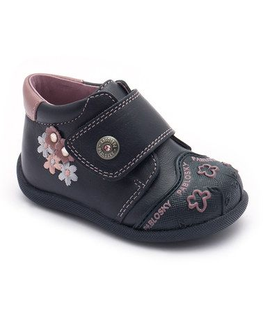 Winter?? Pablosky Navy Flower Sneaker by Pablosky