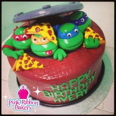 Teenage Mutant Ninja Turtles Cake Pink Ribbon Bakerys Custom