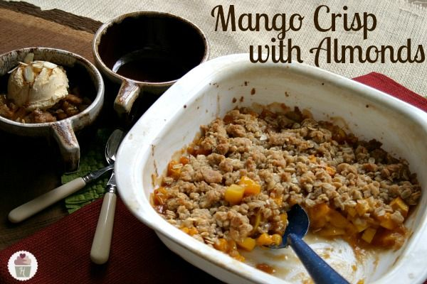 Mango Crisp with  Almonds Recipe on HoosierHomemade.com