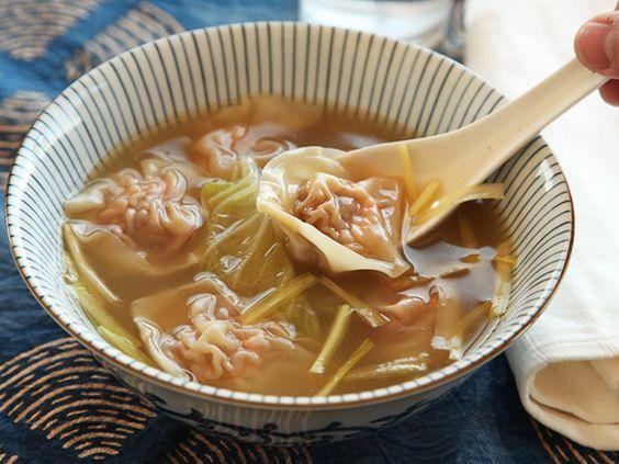 The Best Wonton Soup Food Lab Soup Soup Broth