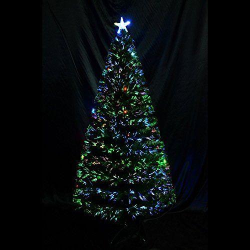 6u2032 Artificial Fiber Optic W/ LED Lights Holiday Lighted Christmas Tree