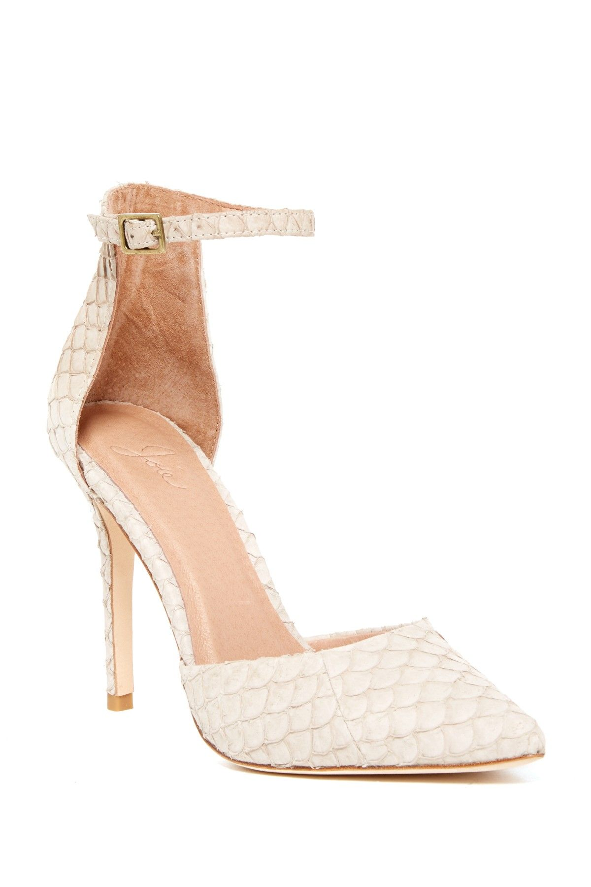 eac27bfc628 Gillian Ankle Strap Embossed Leather Pump by Joie on  nordstrom rack