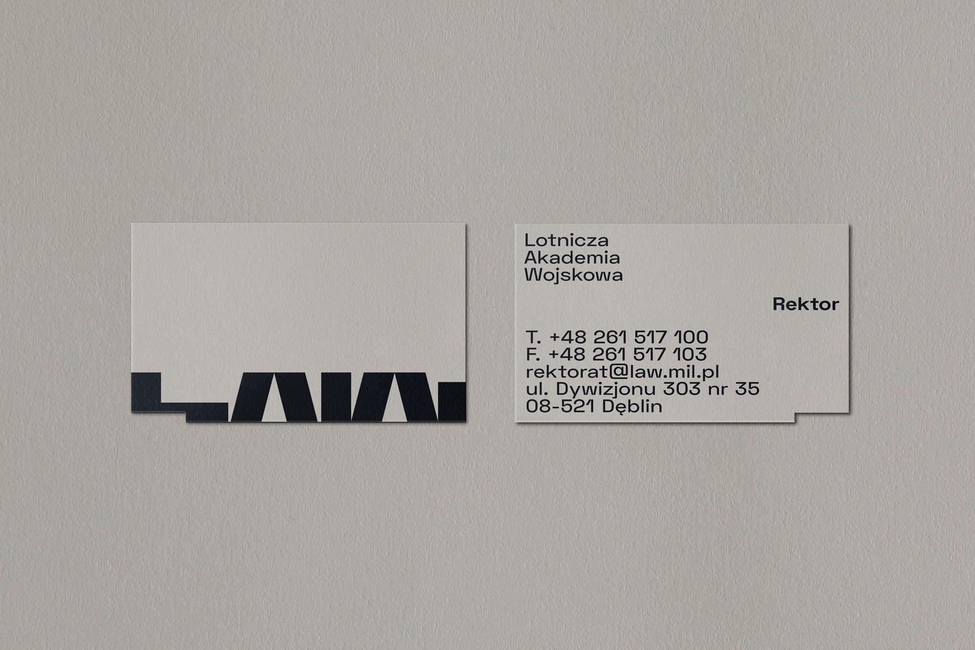 Polish Air Force University Branding On Behance Name Card Design Elegant Business Cards Design Business Card Design