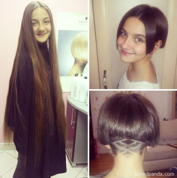 Before And After Haircut Long Hair Styles Hair Makeover Hair Transformation
