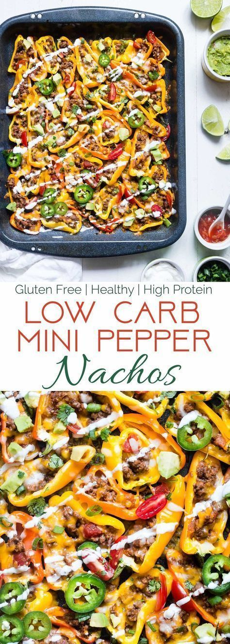 Low Carb Mexican Mini Bell Pepper Nachos | Stuffed peppers ...
