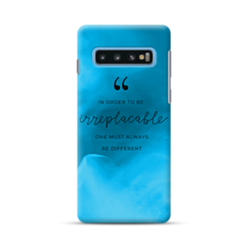 Coco Chanel Inspirational Quote Irreplaceable Samsung Galaxy S10 ...
