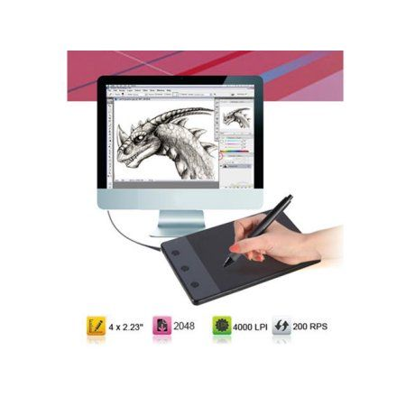 4 x 2 23 anti interference usb art graphics drawing pen tablet with