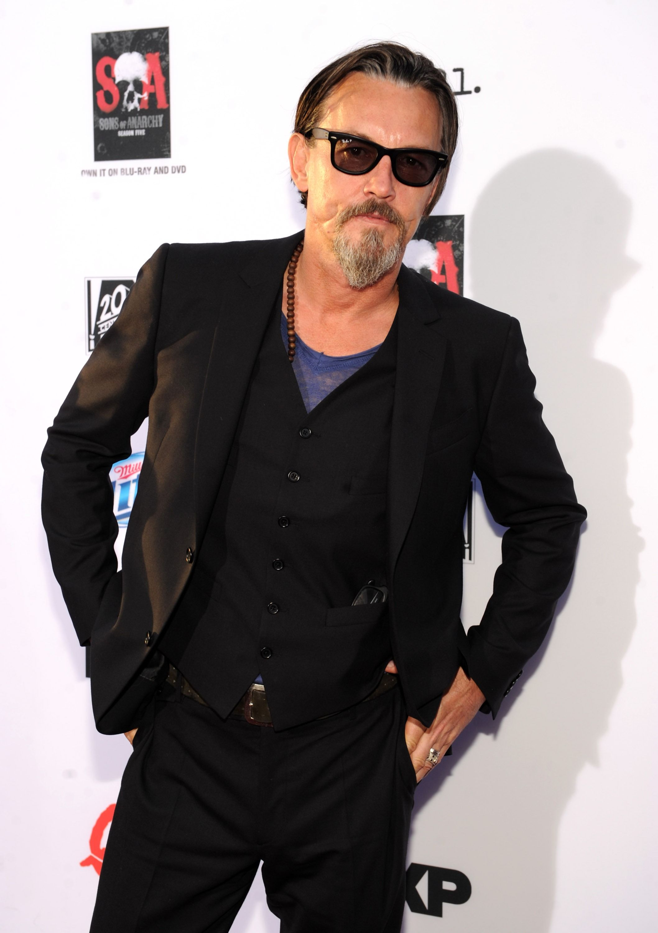 "Tommy Flanagan arrives at FX's ""Sons of Anarchy"" Season 6 Premiere Screening and Party. #SOAFX"