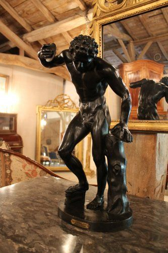 "19th century Bronze ""The Faun cymbalist"""