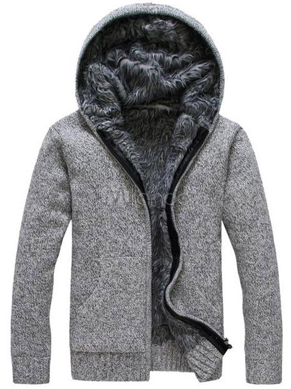 46,82€] Casual en tricot Hoodie de coton