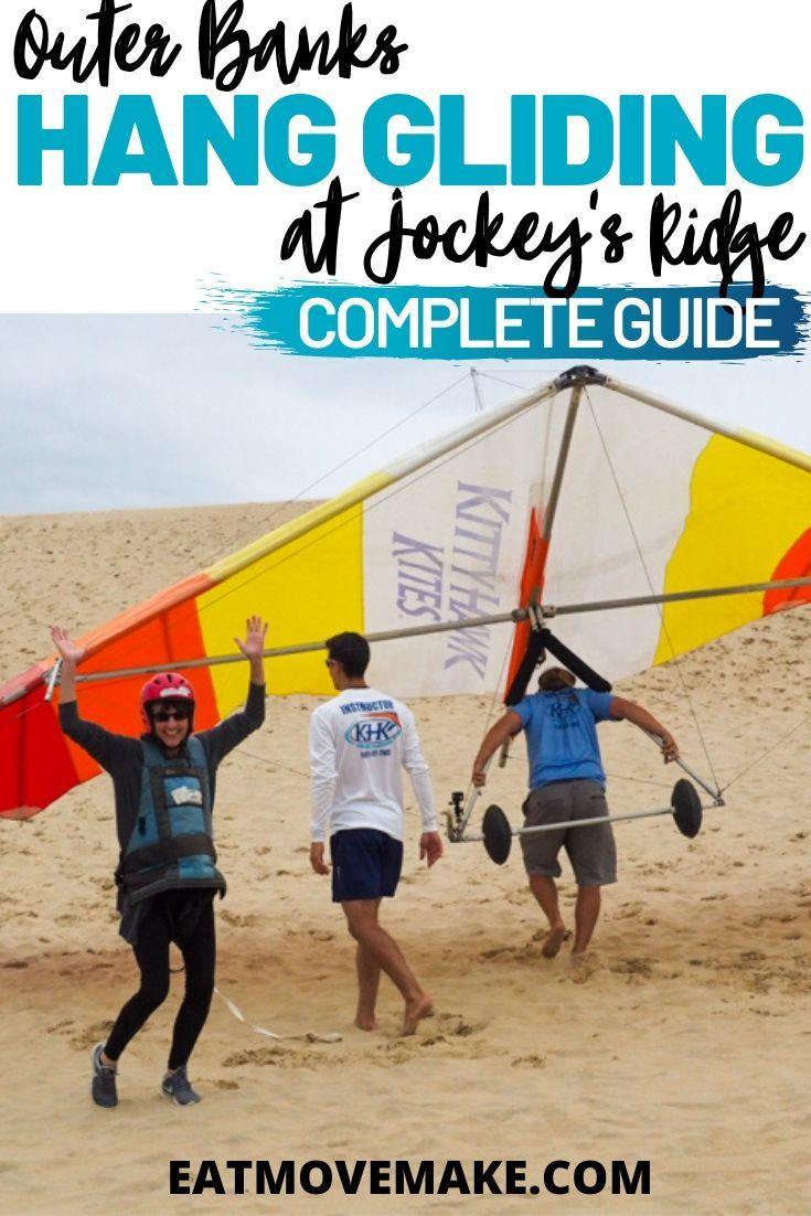 Hang Gliding In The Outer Banks At Jockey S Ridge In 2020 Hang Gliding Beach Adventure North Carolina Travel
