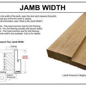 Standard Exterior Door Jamb Width  sc 1 st  Pinterest & Standard Exterior Door Jamb Width | http://oboronprom.info ...