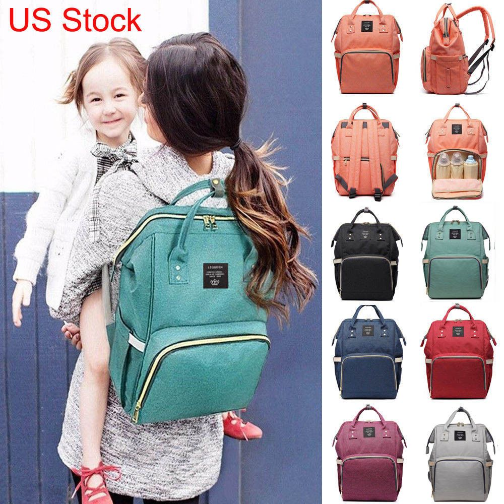 LEQUEEN Baby Nappy Diaper Bag Maternity Travel Rucksack Large Mummy Backpack