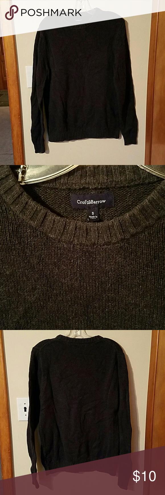 Menus Croft and Barrow Sweater Small GRAY Size small gray Croft