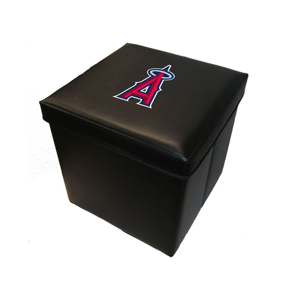 Genial 16 Inch Faux Leather Team Logo Storage Cube Los Angeles Angels