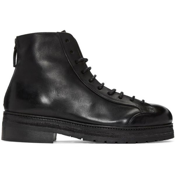 Marsèll Black Zucchino Boots (7,195 CNY) ❤ liked on Polyvore featuring men's  fashion,