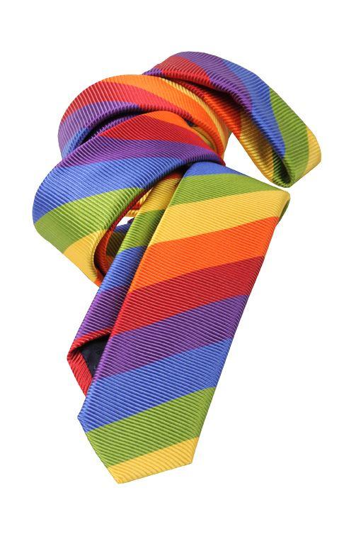 Gay pride rainbow tie clip photos
