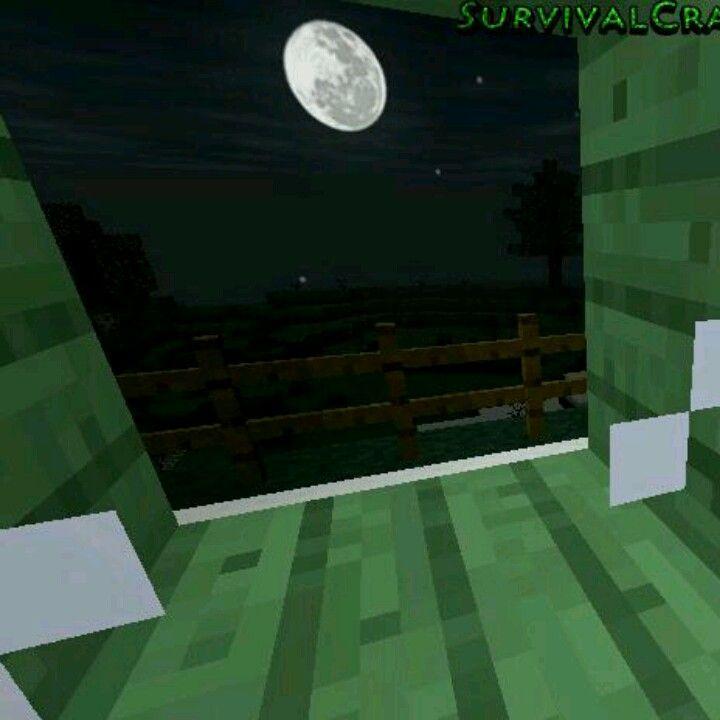 Full moon in Survivalcraft  | Survivalcraft | Moon, Cool