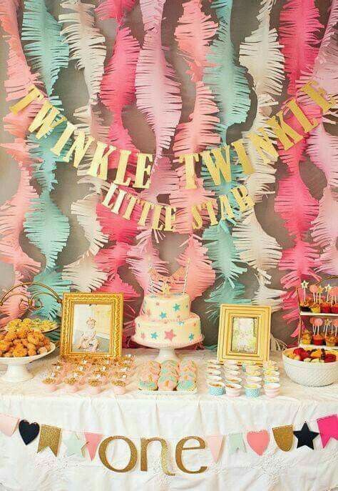 Mm First Birthday Decorations Girl Year 1year Old Party 1st