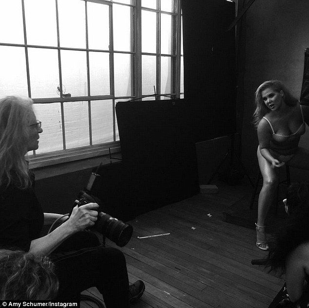 Amy Schumer Shares Behind The Scenes Photo From Pirelli Session