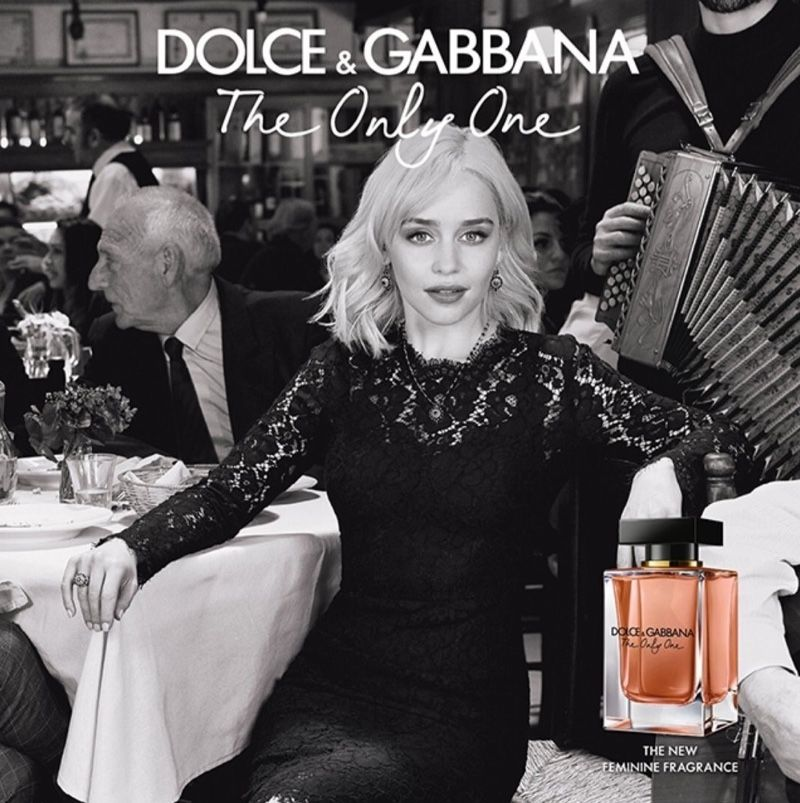 Emilia Clarke Fronts Dolce Gabbana The Only One Fragrance Campaign Dolce And Gabbana Perfume Feminine Fragrance Fragrance Campaign