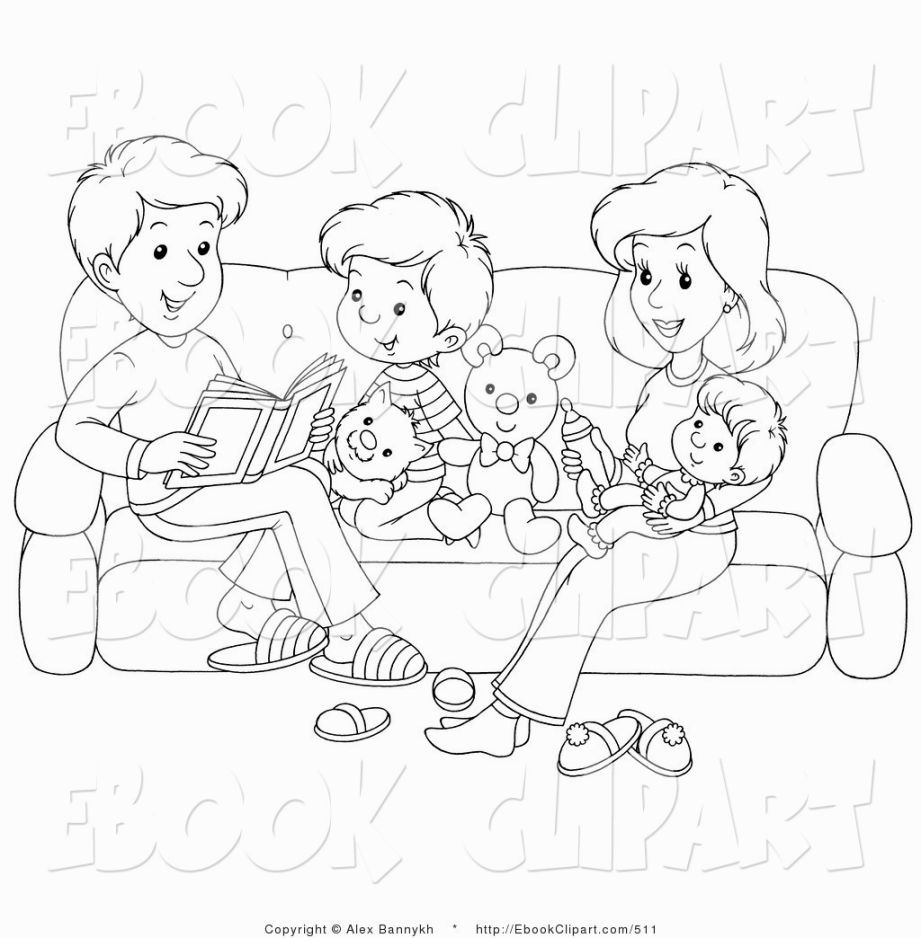 My Family Coloring Page  Family coloring pages, Family coloring
