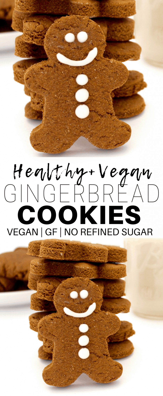 Vegan Gingerbread Cookies No Refined Sugar Gluten Free Option Recipe Vegan Gingerbread Cookies Vegan Gingerbread Gluten Free Gingerbread