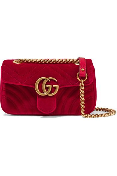 863ac0b735d0b8 Gucci - GG Marmont mini quilted velvet shoulder bag | CLOSET | Gucci  shoulder bag, Quilted shoulder bags, Quilted handbags