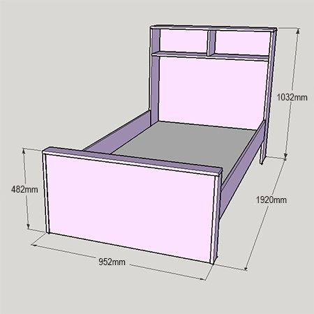 Child S Bed With Bookshelf Or Storage Headboard Diy Childrens Beds Bookshelves Diy Headboard Storage