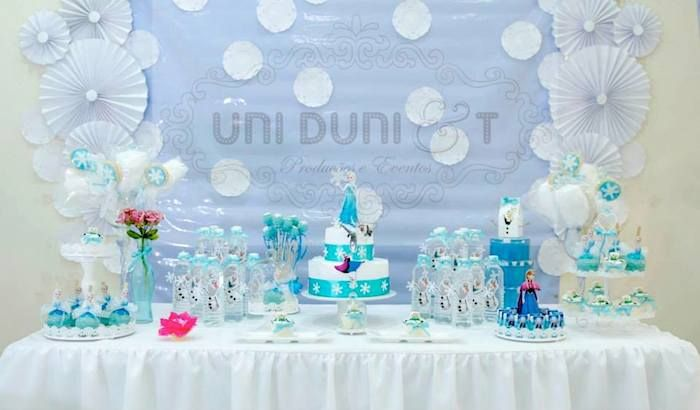 Frozen Themed Birthday Party Decor Ideas Planning Styling Cake