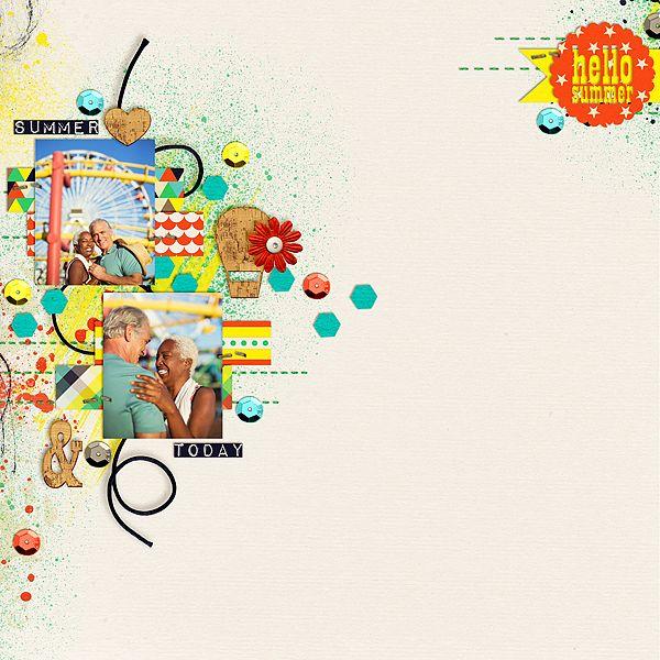 Hello Summer  Kit: This Month – June – Bundle by Amanda Yi Designs http://www.thedigichick.com/shop/This-Month-June-Bundle.html  Template: Carefree by Little Bit Shopp
