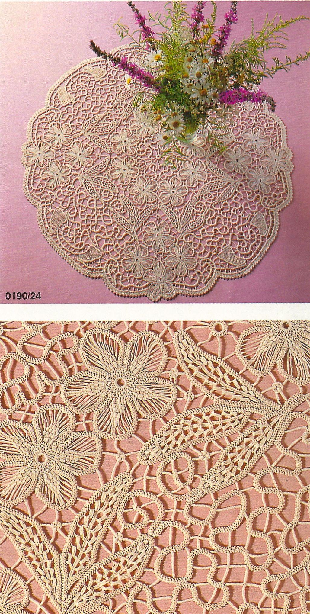 Macramé Crochet Lace – Anna Burda January 1990 | Encaje, Crochet ...