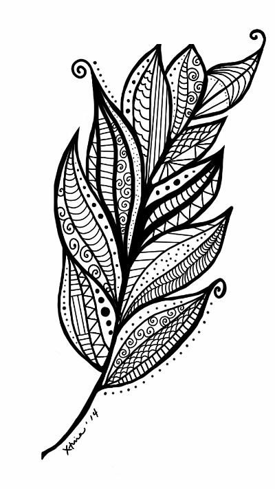 Feather Swirl Coloring Page Pen Up Is A Creative Sns Based On