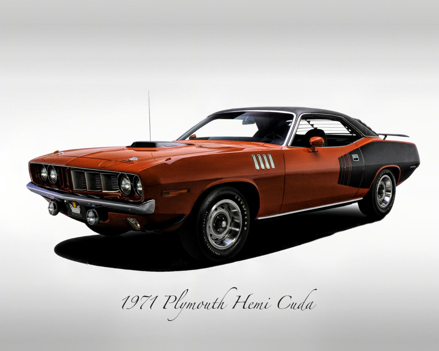 Classic Cars – 1971 Plymouth Barracuda – Muscle Car – Print