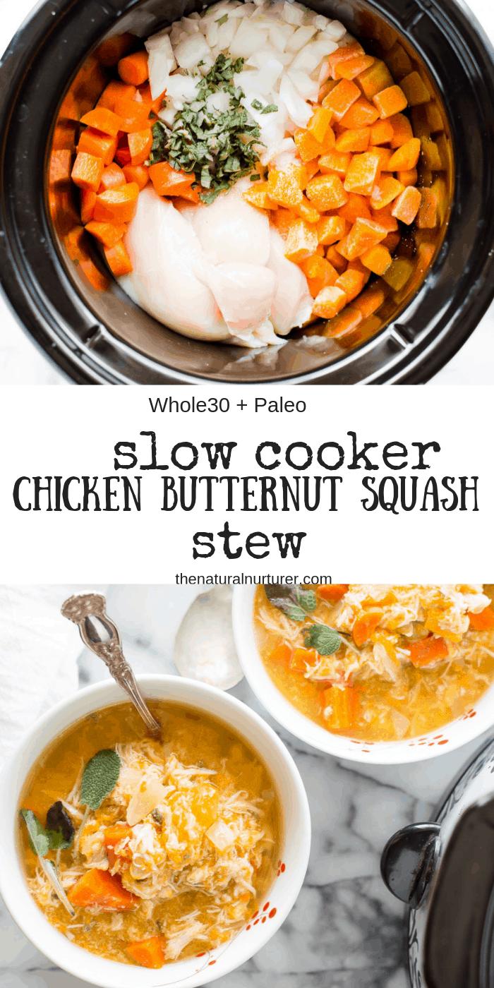 Slow Cooker Chicken & Butternut Squash Stew