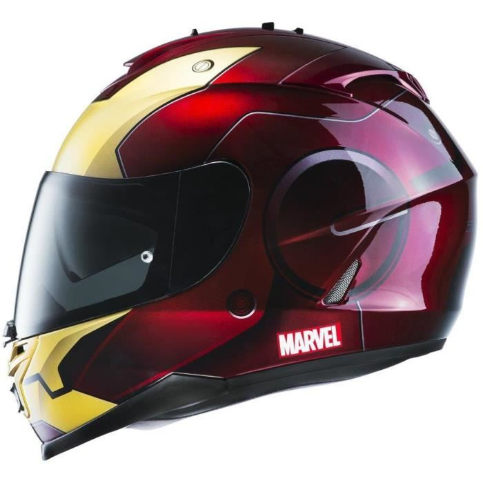 hjc is 17 iron man casque int gral rouge et gold licence marvel cdiscount bons plans pas cher. Black Bedroom Furniture Sets. Home Design Ideas