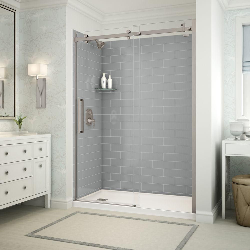Utile by MAAX 32 in. x 60 in. x 83.5 in. Left Hand Alcove Shower Kit ...