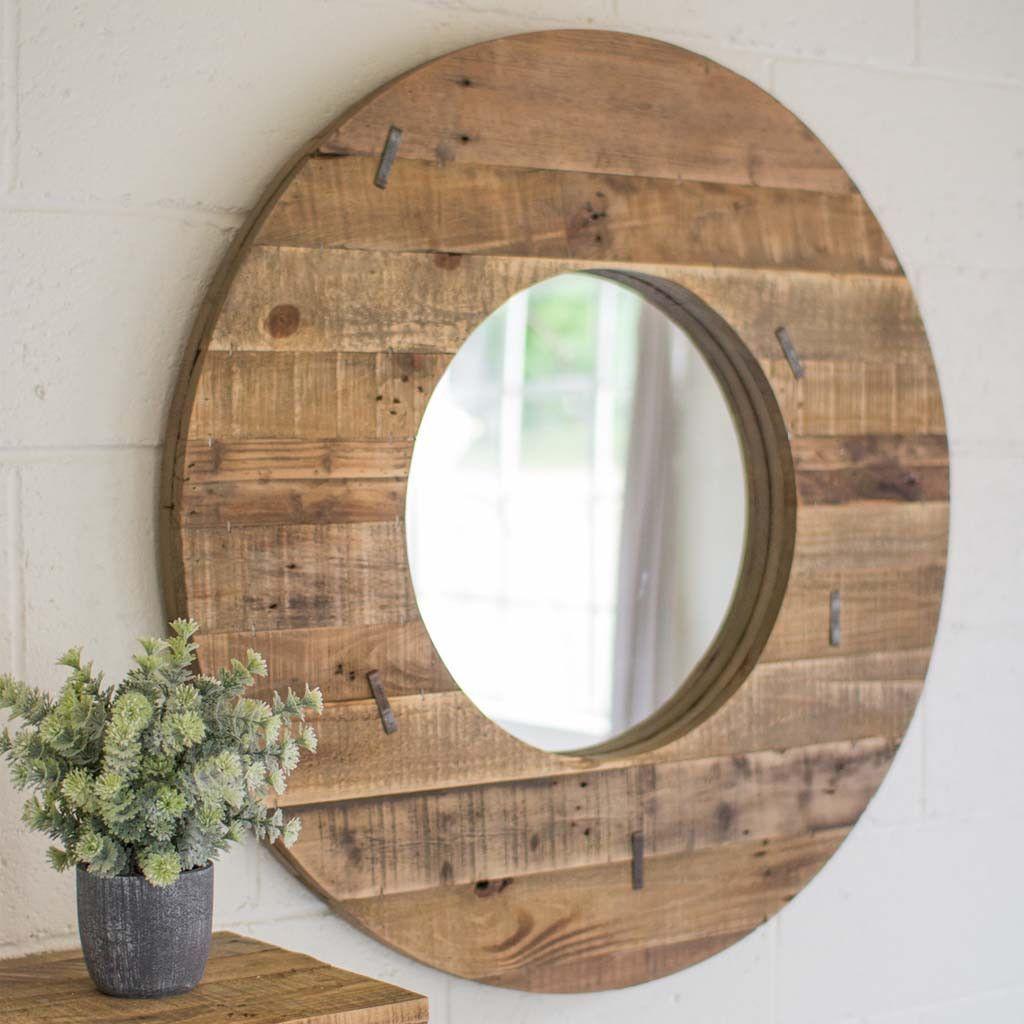 Rustic round barn mirror chambre amt pinterest barn floor