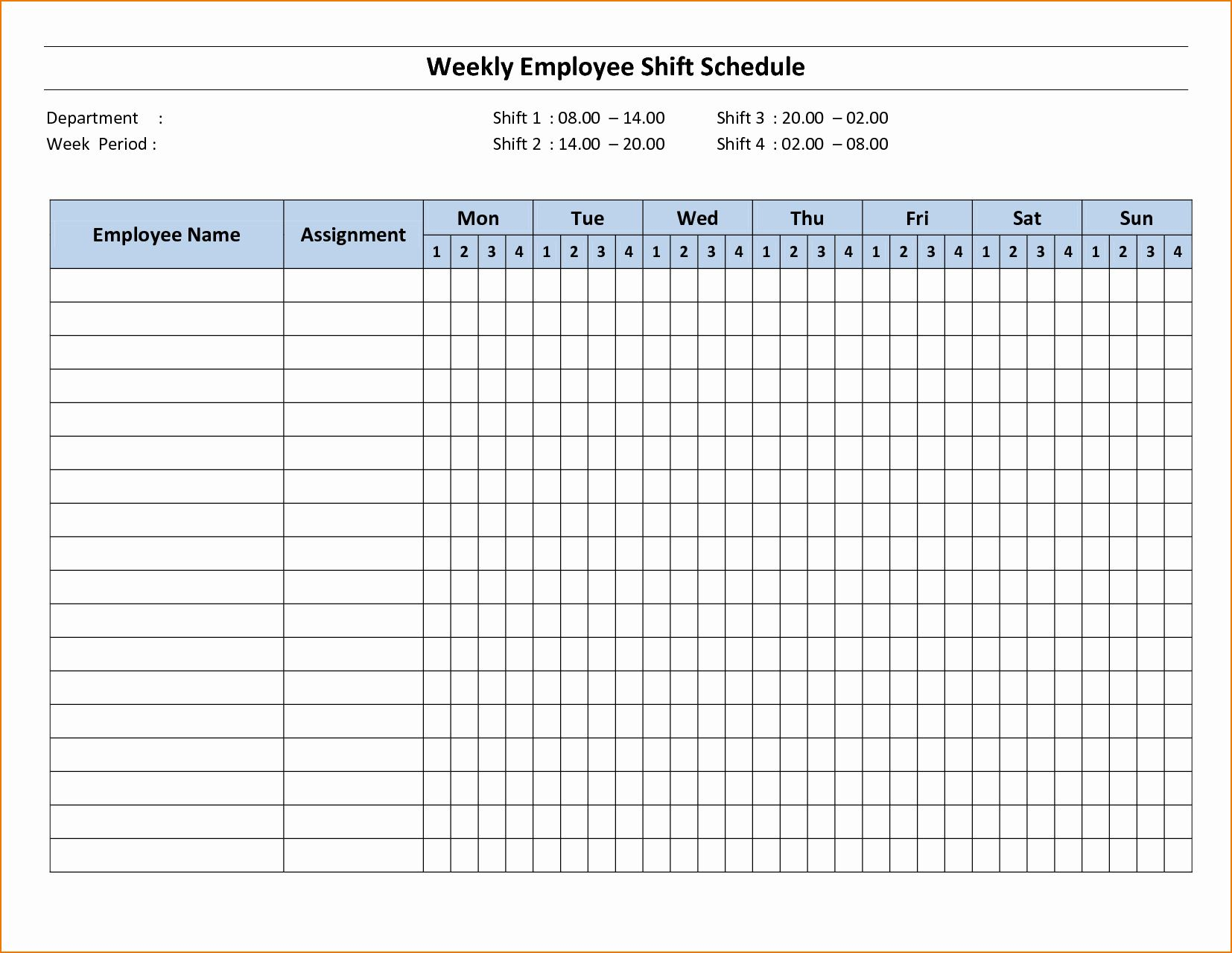 2 Week Schedule Template Awesome 3 Week Schedule Template